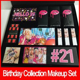China 2018 Birthday collection makeup set hello 21 birthday lipstick set Birthday kit eyeshadow TWENTY ONE BUNDLE free shipping suppliers
