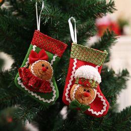 Sugar free gifts dhgate uk 14x9cm christmas decoration pendant high quality boy and girl christmas stockings sugar gift bag free shipping negle Images