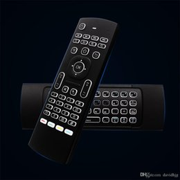 fly ir Canada - MX3 Air Mouse Backlight MX3 Wireless Keyboard 2.4G IR Learning Fly Air Mouse Backlit For Android TV Box