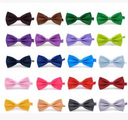 Men Solid Bow Ties Gentleman Butterfly Wedding Party Bowtie Bow Tie Adjustable Business Ties 35 Colors on Sale