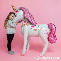 Toy Walkers NZ - 46inch 3D Unicorn Airwalker Balloon Jumbo Gliding Ballon Air Walker for Birthday Party Unicorn Magical Theme Decoration Supplies
