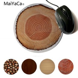 round mouse pads NZ - Yinuoda 2018 New Solid Wood Texture Rings DIY Design Paern Game Lockedge mousepad 20x20cm 22x22cm diameter round mouse pad