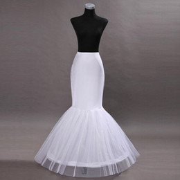 Chinese  Cheap In Stock One Hoop Flounced Mermaid Petticoats Bridal Crinoline For Mermaid Wedding Prom Dresses Wedding Accessories CPA201 manufacturers