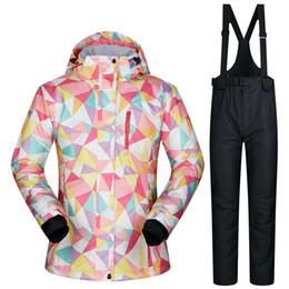 $enCountryForm.capitalKeyWord Canada - outdoor winter women skiing suits waterproof sportwear female Ski wear Top Hoodie Jacket Strap Pants snow jacket pants ladies