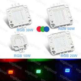 Discount lead beads - LED Bead RGB 10W 20W 30W 50W High Power Cob 30MIL Highbay Lamp Flood Lamp Street Lamp Leads EPACKET