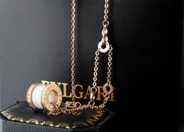$enCountryForm.capitalKeyWord Australia - liruoxi1314 Celebrity design Letter diamond necklace Silverware Fashion Metal Letter ceramics Pendant necklace Gold Jewelry White With Box