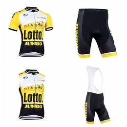 LOTTO team Cycling Short Sleeves jersey (bib) shorts Sleeveless Vest sets  Cheap summer style Mens Breathable Quick Dry clothing Q50836 ba454f947