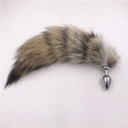 real cosplay UK - Genuine Real Bush Wolf Tail Plug Anal Plug Cosplay Toy Love Sweety Toy Accessories Tassels