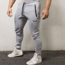 skinny trousers NZ - Running Gym Pants Men Sport Wear Runners Elastic Skinny Pants Breathable Tracksuit Male Trousers Joggers Sweatpants Men Fitness