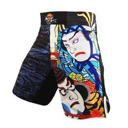 Cheap Thai Shorts Canada - Suotf Mma Big Eyes Red Blue Boxing Shorts Sanda Loose Muay Thai Boxing Shorts Mma Pants Cheap Shorts Pretorian Muay Clothing
