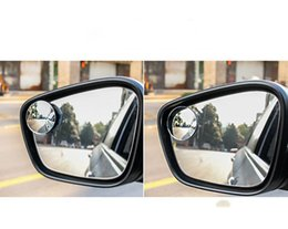 rear view mirror glasses NZ - Car borderless 360 degree reversing blind spot mirror convex mirror rear view rotating reflective glass small round mirror