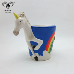Porcelain Prices NZ - china suppliers white porcelain coffee cup unicorn mug with logo printing New products hot selling ceramic unicorn mugs with cheap price