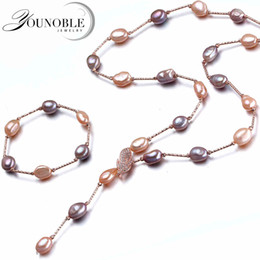 Discount best bridal sets - YouNoble Baroque bridal jewelry sets,boho wedding women jewelry set multicolor freshwater natural necklace bracelet best