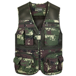 $enCountryForm.capitalKeyWord NZ - Icpans Casual Polyester Vest For Men Vest With Multi Pocket V-Neck Army Green Khaki Regular 4XL Stylish Waistcoat For Men Zipper