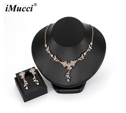 v shape earrings 2019 - iMucci Glamour Rose Golden Leaf Shape Necklace Delicate Necklaces Elegant Women Deep V Wedding Dress Accessories Gift fo