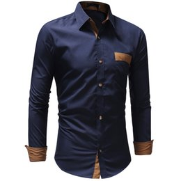 Wholesale New Autumn Cotton Dress Shirts High Quality Mens Casual Shirt Fashion Design Men Plus Size XXXL Slim Fit Social Shirts