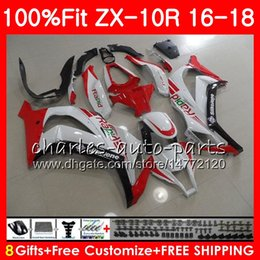 Red White Kawasaki Canada - New hot red Injection For KAWASAKI NINJA ZX 10 R 1000 ZX 10R ZX10R 16 17 18 99HM.7 ZX1000 1000CC ZX-10R 2016 2017 2018 Fairing Red white kit
