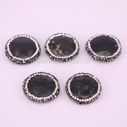 $enCountryForm.capitalKeyWord NZ - 10PCS Round shape stone spacer beads, pave rhinestone crystal black gem connector beads, jewelry findings