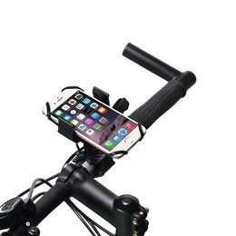universal stand car phone 2019 - Universal Car Phone Holder Bicycle Handlebar Clip Stand Mount Bracket For 5.5-9.2cm Smart Mobile Tablet Navigator GPS di