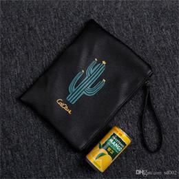 $enCountryForm.capitalKeyWord NZ - Cacti Printing Zipper Purse Multi Color Woman Handbag Portable Creative Oblong Shape Wallet Practical Small Novelty 6 37lc cc