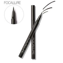 Gel Eyes Liner Australia - Focallure Eyeliner Pencil Liquid Make Up Quick Dry Eyeliner Long Lasting Water-proof Black Cosmetic Eye Liner Pen
