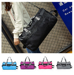 Discount travel laptop cases - Women Handbag Pink Letter Travel Duffle Bag Large Capacity Waterproof Striped Sports Gym Yoga Beach Shoulder Bags Luggag