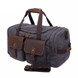 9a0fd5361cdf Khaki Duffle Bag UK - Men Large Capacity Fashion Luggage Luxury Hand Travel  Duffle Male Big