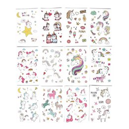 b558a3430 1 Pcs Cartoon Unicorn Tattoo For Kid Cute Fake Taty Children Tatouage  Temporaire Body Art Waterproof Temporary Tattoo Sticker