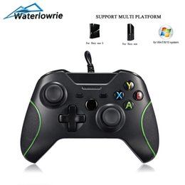 Discount xbox slim black Waterlowrie USB Wired Game Controller For Microsoft Xbox One   S   X Gamepad Controle For XboxOne Slim PC Windows Joystick Black
