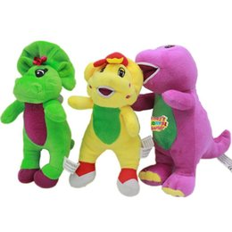 $enCountryForm.capitalKeyWord UK - 11 Inch Singing Friends Dinosaur Barney Sing I LOVE YOU Plush Doll Toy Christmas Gift For Children Plush Toys Animals Three Colors