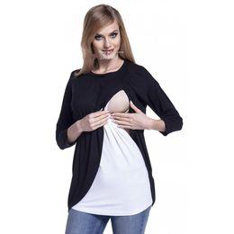 791224036 Camisa de embarazo Nuevo patrón Contraste Color Vestido de maternidad O Cuello  Manga tres cuartos Camiseta de lactancia Embarazada Ropa de enfermería