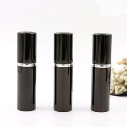 Color negro 5 ml 10 ml Mini Portátil Perfume Botellas de aerosol atomizador Botellas vacías Envases cosméticos Botellas en venta