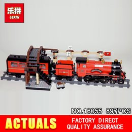 Train blocks online shopping - 2018 Lepin Harry Magic Potter Hogwarts Express Train Blocks Bricks Compatible With The Building Model Gift Assembled