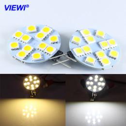 Discount car chandelier - Viewi 10X ampoule G4 3W bulb light 12 volt LED Household Lamp car reading lights 5050 12 leds 12v Marine Camper Chandeli