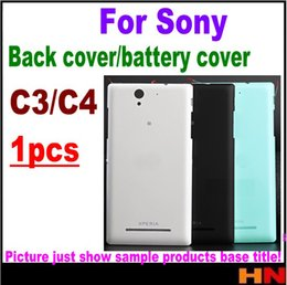 Discount replacement for xperia - 1pcs for Sony Xperia C4 E5333 E5306 C3 S55T S55U Housing Battery Cover Case Rear Battery Door Back Housing cover Replace