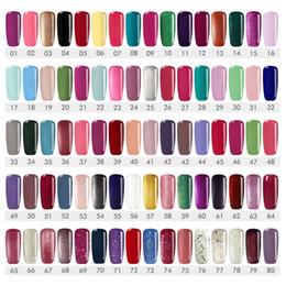 purple gel nail polish 2019 - art varnish COSCELIA Lacquer 10ML 80 Colors UV Gel Manicure DIY Art Tips Gel Polish Design Nail Painting Color discount