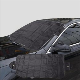 front end car UK - Anti Snow Shield Car Covers Windshield Shade Windscreen Cover Dust Protector Auto Front Window Screen Cover 140x68cm Car-Styling