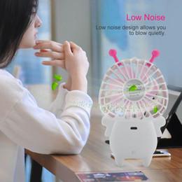 Handheld Usb Fan NZ - Laptop USB Fan 2-level Wind Force & 7-blade Gradient LED Handheld Mini Fan Baby Bee Free Shipping