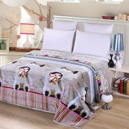 d5cd021f54 Cartoon characters thick blanket flannel blanket fleece blankets Twin Full  Queen King Size Good quality Keep warm soft