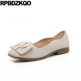 ladies slip on chinese designer beautiful black china party low heel nude  women dress shoes metal flats square toe 2018 kawaii 9e4b4c364afe