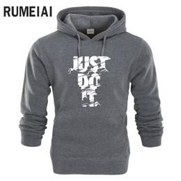 Discount mens gray hoodies - RUMEIAI New Men Fashion Sweatshirt Mens Hoodies Hip Hop Style Tracksuit Casual Funny Letter Print Brand Hoodies Sweatshi