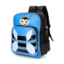 5199499ad8 Cute Bee Print Backpack Kids School Bags for Girls Boys Cartoon Pattern  Children Backpacks LBY2018