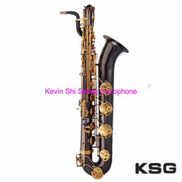 Vente en gros KSG Marque E-flat saxophone baryton JDSB-801 bass saxophone Falling E (b) baryton sachs Livraison gratuite sax assistance OEM travail laiton saxophone