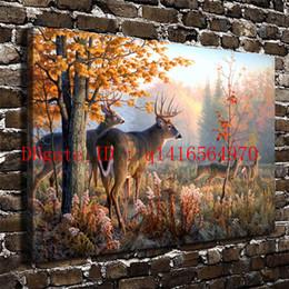 $enCountryForm.capitalKeyWord NZ - Natural Scenery Forest Animal Deer,Canvas Prints Wall Art Oil Painting Home Decor 24x36 20x30 16x24 12x18 (Unframed Framed)
