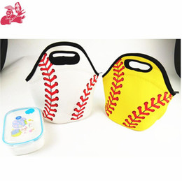 Cool tote lunCh bag online shopping - Neoprene Softball Lunch Bag Baseball Tote Cooler Bags Food Bag Food Carrier Storage Bags Colors OOA5386
