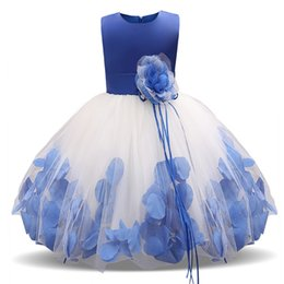 $enCountryForm.capitalKeyWord UK - 2018 Beautiful Purple and White Flower Girls Dresses Beaded Lace Appliqued Bows Pageant Gowns for Kids Wedding Party christmas