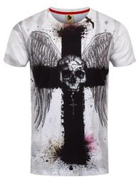 27dfa5f1141 Monkey Business Cross Skull Full Print Men s White T-shirt