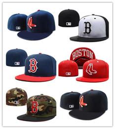 833fc2547e Boa Venda Novo Boston Red Sox Em Cor Preta Cabido Chapéus Lisos Sox Bordado  Fechado Caps Chapeu Hip Hop Projeto Ossos de Uma Peça