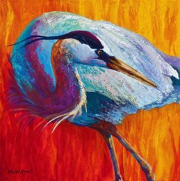 wrapped canvas prints Australia - second-glance--great-blue-heron-marion-rose Print painting arts and canvas wall decoration art Oil Painting No Wrap-Rolled In A Tube
