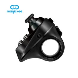 Discount mini bluetooth game controller android - Magicsee R1 Mini Ring Bluetooth 4.0 Rechargeable Wireless VR Remote Game Controller Joystick Gamepad for Android iphone